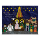 Vector Illustration of Christmas Nativity Scene Poster