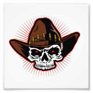Vector illustration of Cowboy skull Art Photo