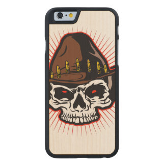 Vector illustration of Cowboy skull Carved® Maple iPhone 6 Case