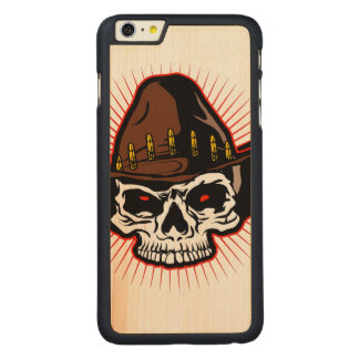 Vector illustration of Cowboy skull Carved® Maple iPhone 6 Plus Case