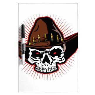 Vector illustration of Cowboy skull Dry Erase Boards