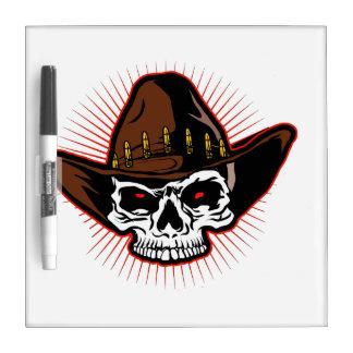 Vector illustration of Cowboy skull Dry-Erase Whiteboard