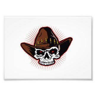 Vector illustration of Cowboy skull Photo