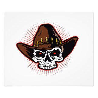 Vector illustration of Cowboy skull Photo Art