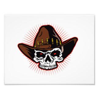 Vector illustration of Cowboy skull Photograph