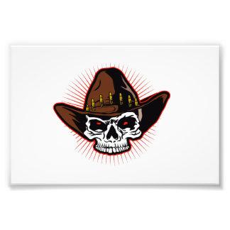 Vector illustration of Cowboy skull Photographic Print