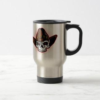 Vector illustration of Cowboy skull Travel Mug