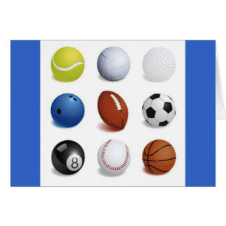 Vector Illustration of Sport Balls Card
