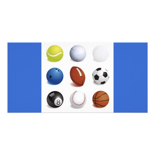 Vector Illustration of Sport Balls Photo Card