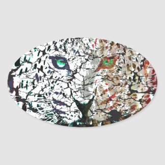 vector lepard oval stickers