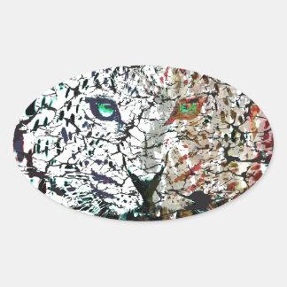 vector lepard oval sticker