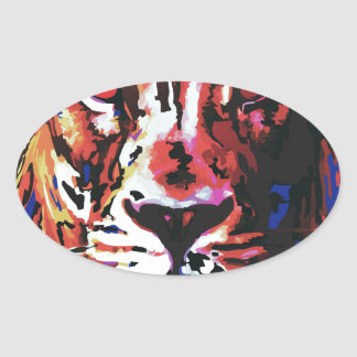 vector lion oval stickers