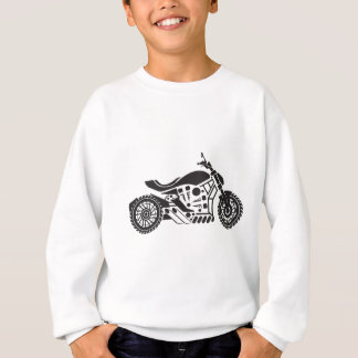 Vector Motorcycle Black simplified Sweatshirt