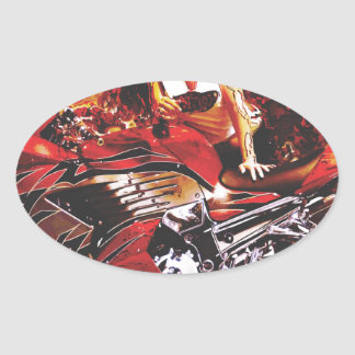 vector motorcycle girl jpg oval stickers