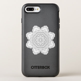Vector ornate mandala illustration for coloring OtterBox symmetry iPhone 8 plus/7 plus case