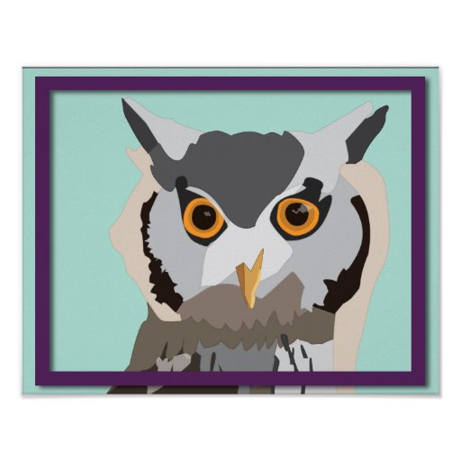 Vector Owl Poster