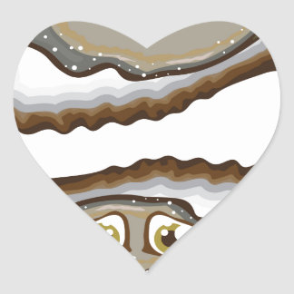 Vector Oysters Heart Sticker