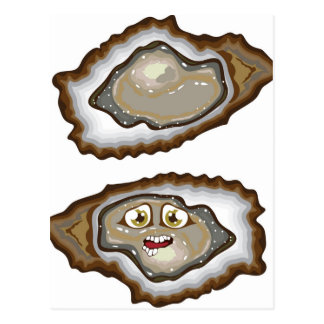 Vector Oysters Postcard