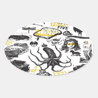 Vector pack design oval sticker
