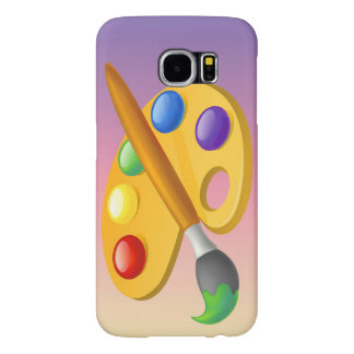 Vector pallette with brush samsung galaxy s6 cases