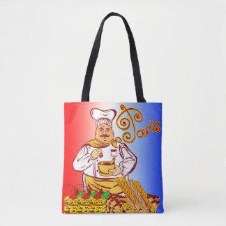 Vector Paris Baker Tote Bag
