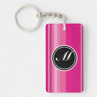 Vector Pink Gradient Striped Keychain