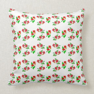 Vector poppy on your own background colour throw pillow