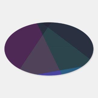 Vector - purple blue oval stickers
