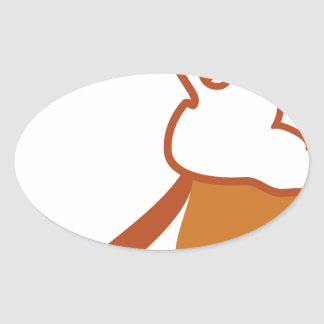 Vector Rabbit Oval Sticker