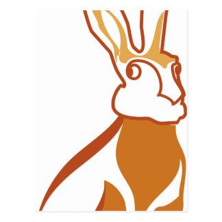 Vector Rabbit Postcard