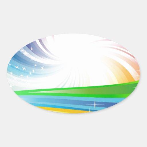 Vector Rainbow Colorful Background digital fun swi Sticker
