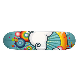 vector rainbow custom skate board