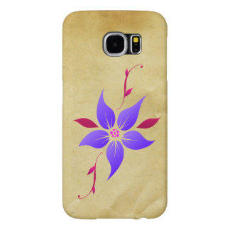 Vector Retro Pattern Old Paper with Flower Samsung Galaxy S6 Cases