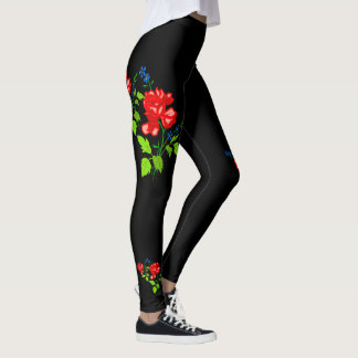 Vector rose  own (background colour background) leggings