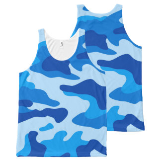Vector Sea camouflage All-Over-Print Tank Top
