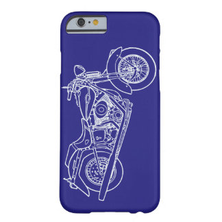 Vector Silhouette Classic  Motorbike Photo Barely There iPhone 6 Case