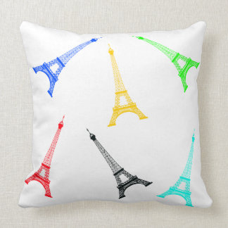 Vector Silhoutte Eiffel Tower Throw Pillow