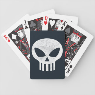 Vector Skull Distressed Bicycle Playing Cards
