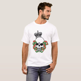 Vector Skull with Dragons T-Shirt
