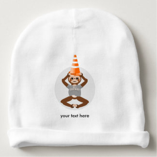 Vector Sloth Be A Unicorn Baby Beanie
