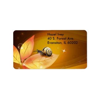 vector snail address label
