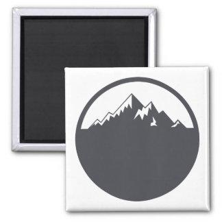 Vector Snowy Mountain Magnet
