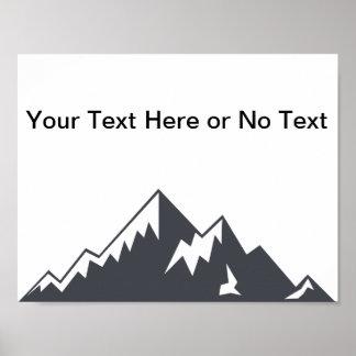 Vector Snowy Mountain Poster