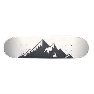 Vector Snowy Mountain Skateboard