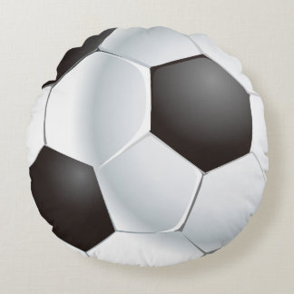 Vector Soccer Ball Round Pillow
