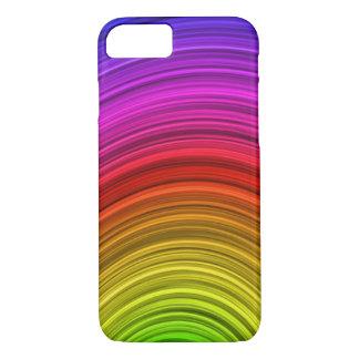 Vector Spiral Rainbow Background iPhone 7 Case