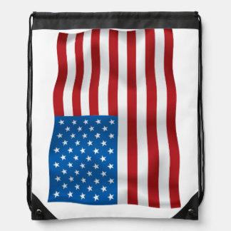 Vector  USA Waveing Flag Backpack