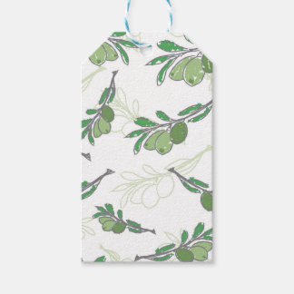 Vector vintage hand drawn olive branch gift tags