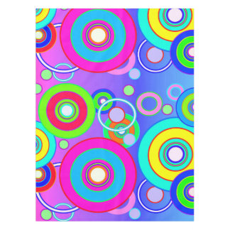 Vector Vivid Circles Tablecloth