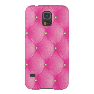 Vectorized pink leather upholstery galaxy s5 covers